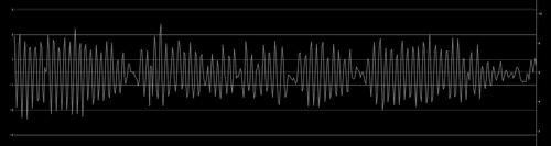 補正後のデータの例。